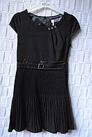 Шикарное школьное платье с плиссе