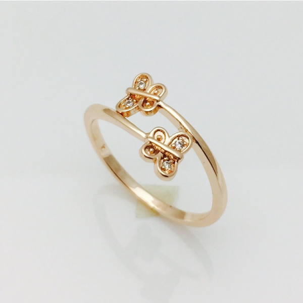 Кольцо бабочки, размер 19