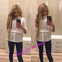 Женская оригинальная шифоновая рубашка, 3 цвета