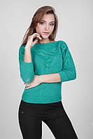 Модный женский джемпер мятного цвета