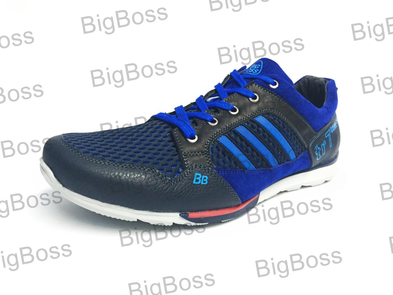 a7f06ec9a Мужские летние кроссовки больших размеров К-34/1 синий -  BigBoss-производитель мужской