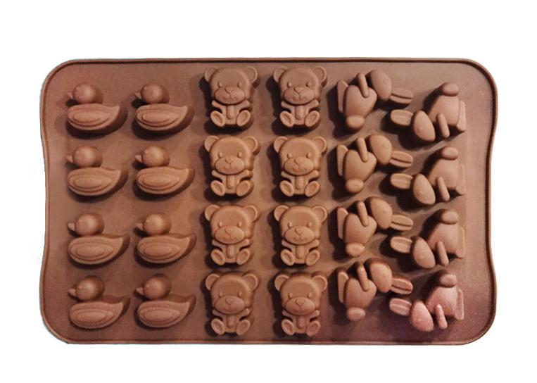 Форма силиконовая для конфет Зоопарк из 24 шт