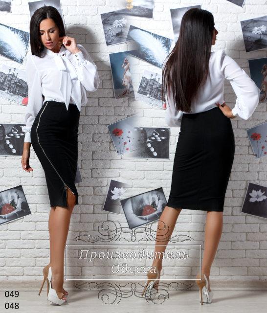 66e5eb957c8 Черная трикотажная юбка на зменке сбоку  продажа