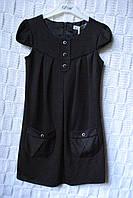 Шикарное школьное платье с кармашками