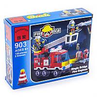 Конструктор Brick Enlighten серия Пожарная тревога 903 (Пожарная машина)