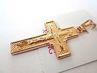 Крест нательный, медицинская сталь + ювелирный сплав