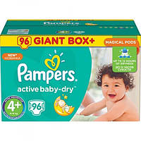Подгузники Pampers Active Baby-Dry Maxi Plus 4+ (9-16 кг) Giant Box Plus, 96 шт.