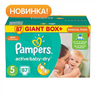 Подгузники Pampers Active Baby Junior 5 (11-18 кг) Giant Box Plus 87 шт.