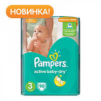 Подгузники Pampers Active Baby-Dry Midi 3 (4-9 кг) Giant Pack, 90 шт.