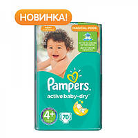 Подгузники Pampers Active Baby-Dry Maxi Plus 4+ (9-16 кг) Giant Pack, 70 шт.