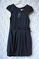 Шикарное школьное платье Бантик синее