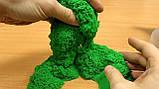 Цветной Кинетический песок пластилин Royal Play Sand с пасочками 400гр. оранжевый, фото 4