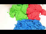 Цветной Кинетический песок пластилин Royal Play Sand с пасочками 400гр. оранжевый, фото 8