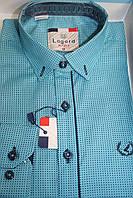 Рубашка для подростка бирюзового цвета