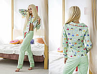 НОВИНКА КОЛЛЕКЦИЯ ОДЕЖДЫ ДЛЯ ДОМА! Уютная, женская пижами рубашка + штаны (100% хлопок) 42-60р РАЗНЫЕ ПРИНТЫ