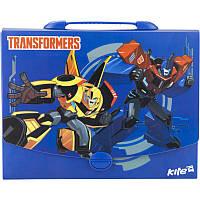 Портфель- коробка пластиковый «Transformers» на защелке, ТМ Kite