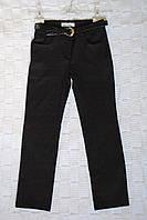 Шикарные школьные брюки с лаковым поясом