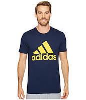 Оригинальная футболка Adidas Badge of Sport Classic Tee, темно-синяя