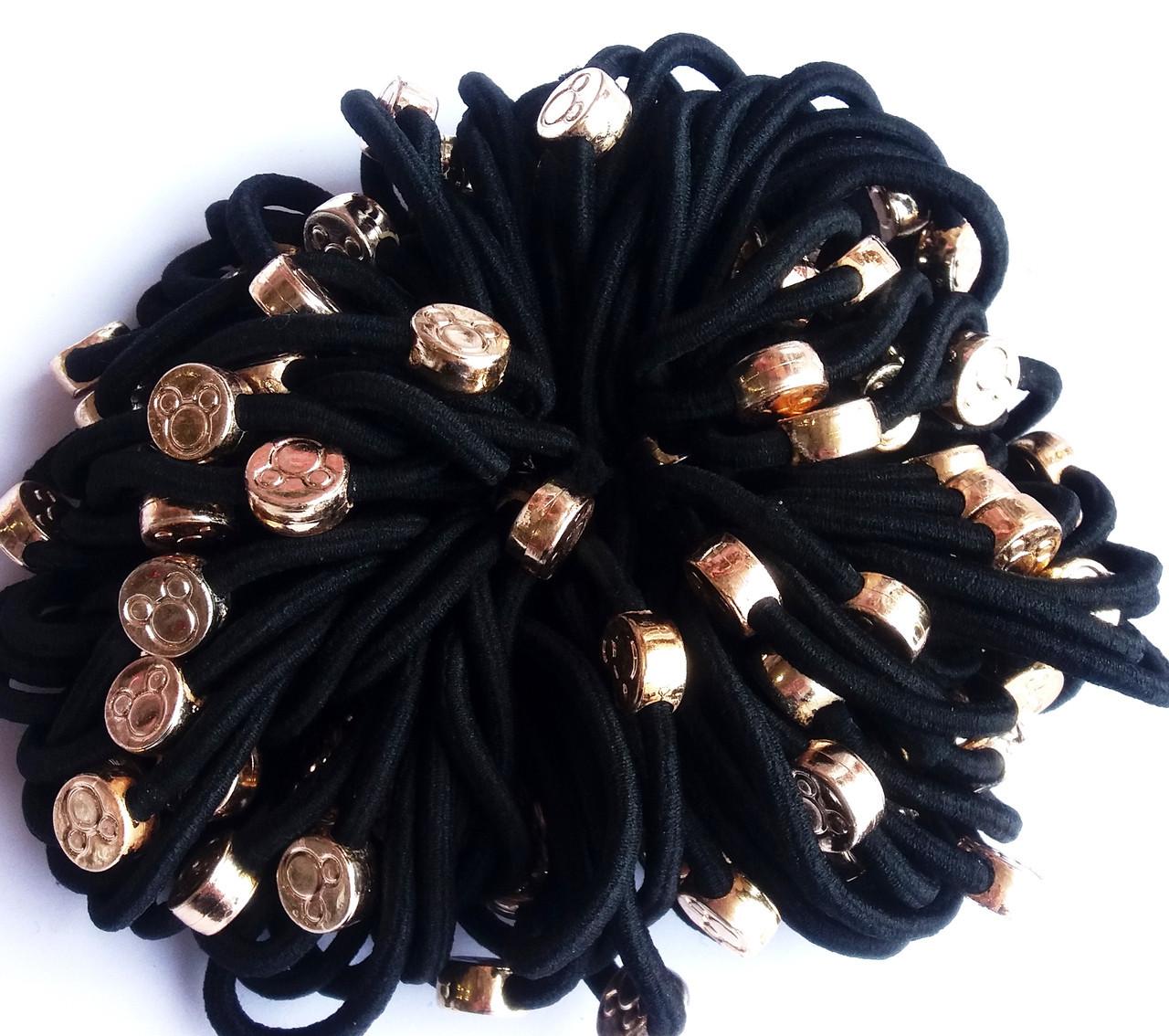 Резинка для волос Кругляшок в упаковке 100 шт. Микро фибра
