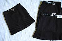 Элегантная школьная юбка с пояском