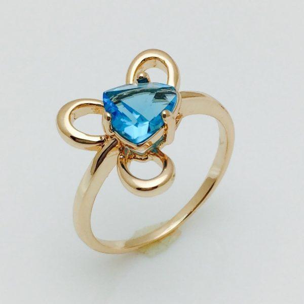 Женское кольцо трехлистник, размер 17, 18, 19