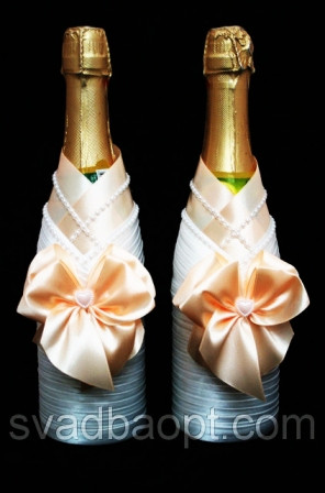 Жених Невеста для свадебного шампанского Love