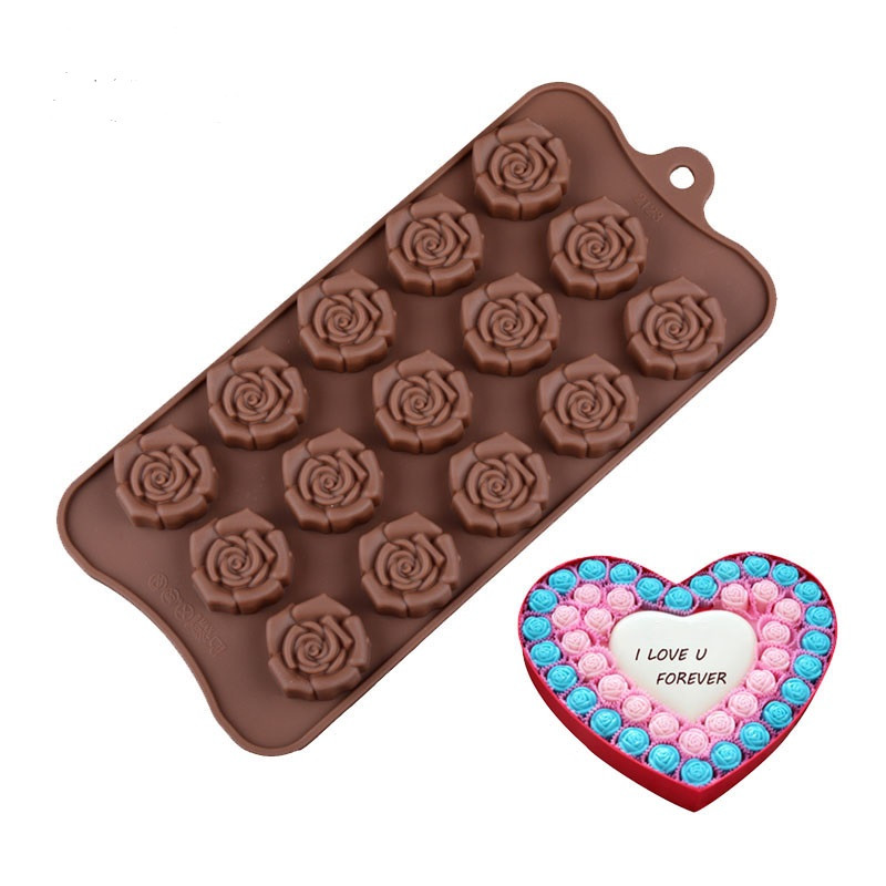 Форма силиконовая для льда и конфет Розы из 15 шт