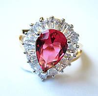 Перстень Королевы розовый кварц, размер  16, 17, 18, 19