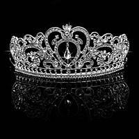 Оригинальная свадебная Корона с кристаллами