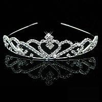 Обруч диадема с кристаллами на выпускной или свадьбу