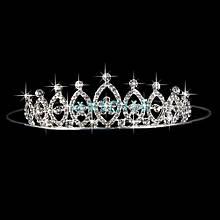 Диадема в виде короны с кристаллами