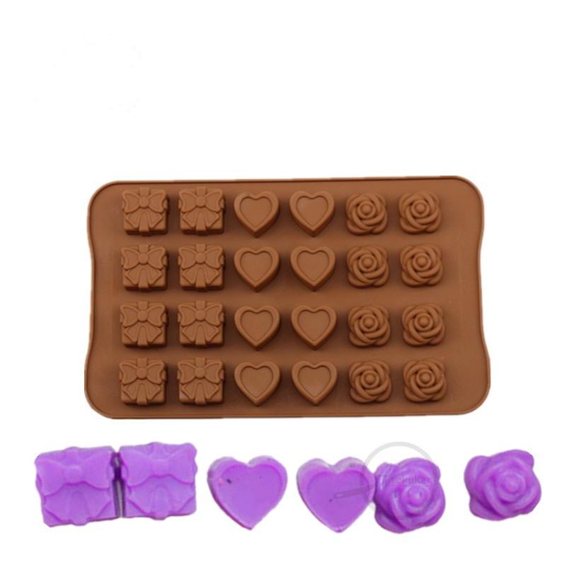 Форма силиконовая для льда и конфет Подарок из 24 шт
