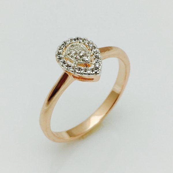 Кольцо на палец Капелька, размер  17, 18
