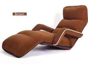 Кресло трансформер с подлокотниками кофейное