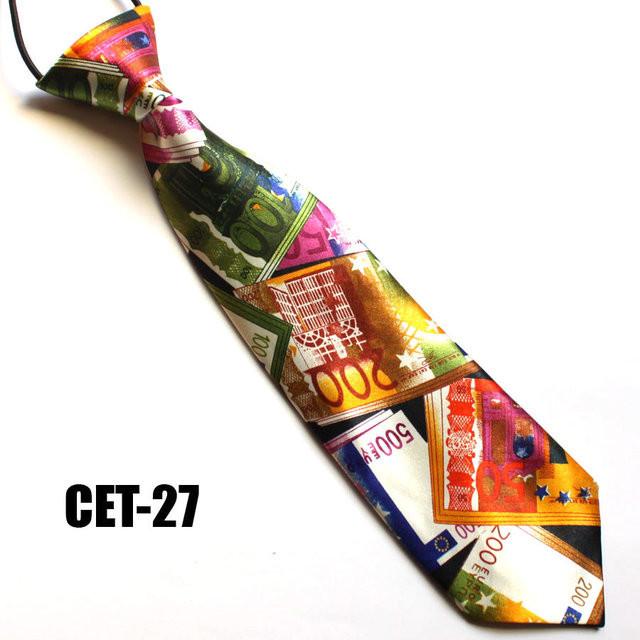Атласный детский галстук на резинке для мальчика Евро