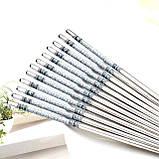 Металлические китайские палочки для еды набор 5 пар, фото 2