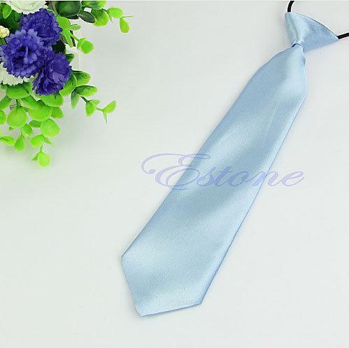 Детский голубой галстук на резинке