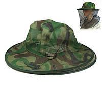 Шляпа с защитой от насекомых цвет камуфляж