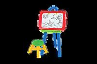 Набор для творчества Мольберт арт. 0381 (доска,стульчик,маркер,губка,мел,буквы,цифры,знаки) VFV