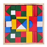 Деревянная игрушка Городок MD 0309 конструктор, в деревянной коробке  20,5-20,5см ZV