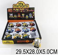Заводные животные 0883 (48шт/2) Minion , 12ш .в боксе 29, 5*28*5см FFM