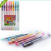 Ручка MK 0400 гелевая, блеск, 8шт, в футляре(пластик)  9,5-15,5-1см FZ