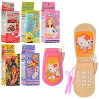 Телефон M 0265 I U/R-1 (360 шт) мобильный, 6 видов, в коробке, 4,5-9см FFD