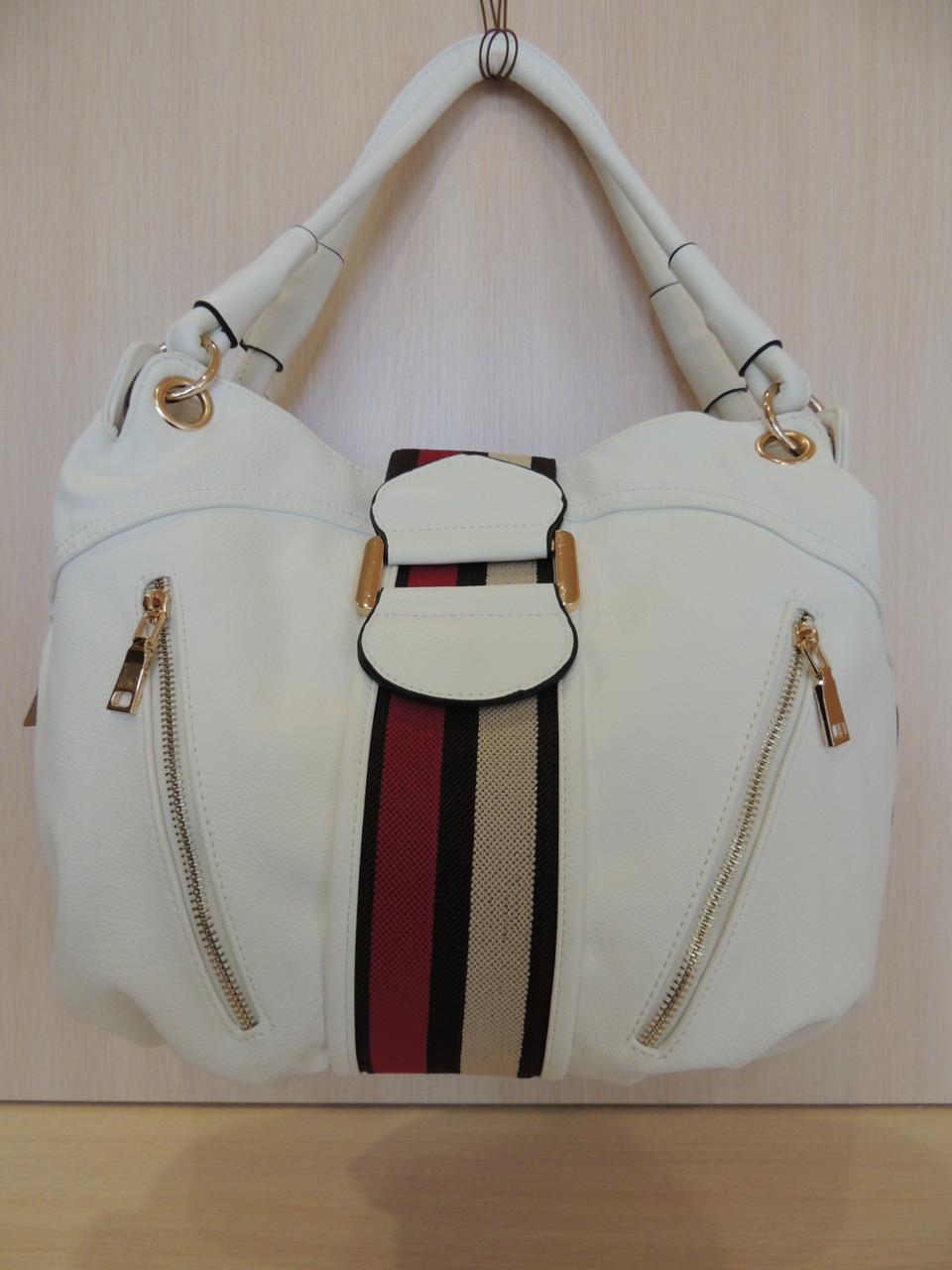 Красивая сумочка женская эко-кожа белая, синяя, коричневая. Италия