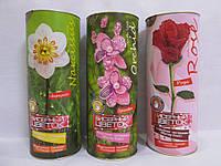Бисерный цветок в тубусе арт. БЦ-04  р. 20-7,5 см. ZK