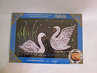 Картина-Мозаика из Пайеток в декорированной рамке  р. 24*35*3 см VV