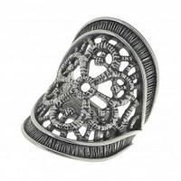 """Кольцо """"Макраме"""" покрытое серебром (j5873090)"""