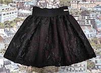 Юбка гипюровая р. 122-140 чёрная