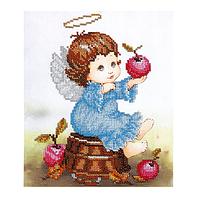 """Набор для вышивания """"Ангелочек с яблоком"""""""