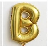 Фольгированный ШАР-БУКВА B высотой 40 см цвет : золото